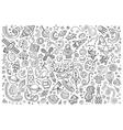 Sketchy hand drawn doodles cartoon set of vector image vector image