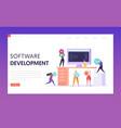 software development technology teamwork web page vector image vector image