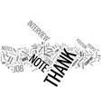 thank you notes an integral part of your career vector image vector image