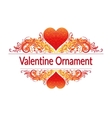 Valentine Holiday Floral Pattern vector image vector image