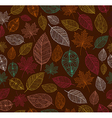 Vintage autumn leaves seamless pattern background vector image vector image