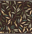 vintage leaves seamless pattern vector image