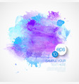Watercolor Paint Abstract Background vector image vector image