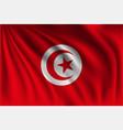 waving tunisia vector image vector image