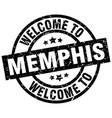 Welcome to memphis black stamp vector image