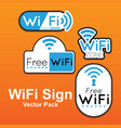 wifi sign pack image vector image