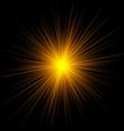 yellow rays rising on dark background