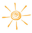 abstract symbol of the sun vector image