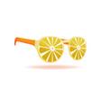 lemon sunglasses summer design object vector image