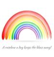 Bright Brush Painted Rainbow vector image