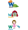 alphabet letter - W vector image