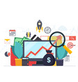 analysis web analytics and business development vector image