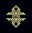 art deco label vector image vector image