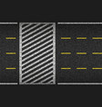 asphalt road and crosswalk top view vector image vector image
