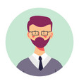 bearded teenage boy portrait profile male vector image