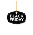 black friday sales tag on white background vector image