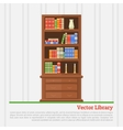 bookcase with books vector image vector image