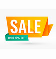 bright creative origami style sale banner vector image vector image
