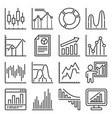 business charts and graph icons set vector image vector image