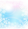 Christmas background in soft colors vector image vector image