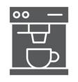 coffee maker glyph icon drink and espresso vector image vector image