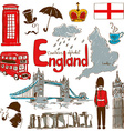 Collection of England icons vector image vector image