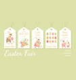 collection tags for easter gifts or sales vector image vector image