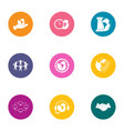compromise icons set flat style vector image
