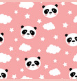 cute panda seamless pattern vector image vector image