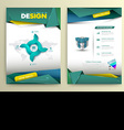 design page template modern style vector image vector image