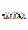 diverse young people talking with chat bubbles vector image