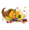 fall harvest realistic pumpkin and vector image vector image