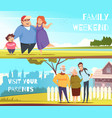 families horizontal banners vector image vector image
