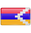 Flags Karabakh Republic in the form of a magnet on vector image vector image