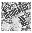 Free Home Decorating Ideas Word Cloud Concept vector image vector image