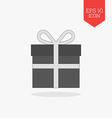 Gift icon Flat design gray color symbol Modern UI vector image vector image