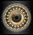greek key meander round 3d mandala pattern vector image vector image
