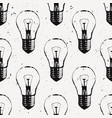 grunge seamless pattern with light bulbs modern vector image vector image