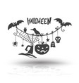 halloween objects for halloween vector image