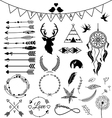 Hand drawn arrows Tribal designs vector image