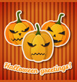 happy halloween greeting template vector image vector image