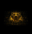 head a bear low poly gold vector image vector image