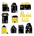 home sweet home set vector image vector image