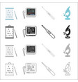 hospital medicine polyclinic and other web icon vector image vector image