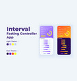 interval fasting controller smartphone interface vector image vector image