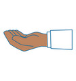 isolated cute human hand vector image vector image