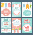 labels or cards for baby shower package vector image