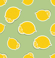 Lemon pattern Seamless texture with ripe lemons vector image
