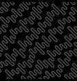 line art zig zag seamless pattern vector image