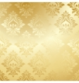 Luxury golden floral wallpaper vector image vector image